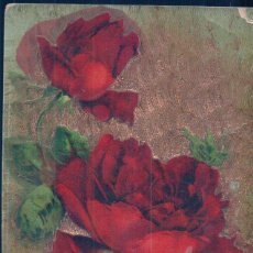 Postales: POSTAL RELIEVE DE ROSAS ROJAS - BEST WISHES - SERIE 37. Lote 98582659