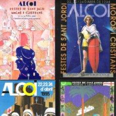 Postales: ALCOY.20 POSTALES DISTINTAS DE CARTELES DE FIESTAS DE SAN JORGE DE ALCOY. Lote 98616019