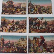 Cartes Postales: P- 7721. LOTE DE 6 POSTALES CARNAVAL DE NICE. A.D.I.A.. Lote 101256011