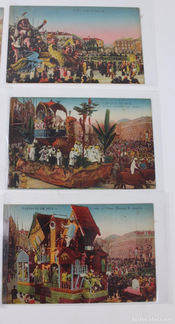 Postales: P- 7721. LOTE DE 6 POSTALES CARNAVAL DE NICE. A.D.I.A. - Foto 3 - 101256011