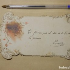 Postales: BONITA POSTAL TROQUELADA MODERNISTA, INUSUAL. Lote 101499451