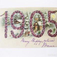 Postales: ANTIGUA POSTAL DE TRANSPARENCIA DE 1905. AL PONERLA A TRASLUZ APARECEN LOS COLORES. Lote 214964563