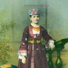Postales: BOSNIA. JUDIA ESPAÑOLA CON TRAJE DE GALA. FOLKLORE. HACIA 1915.. Lote 102726791