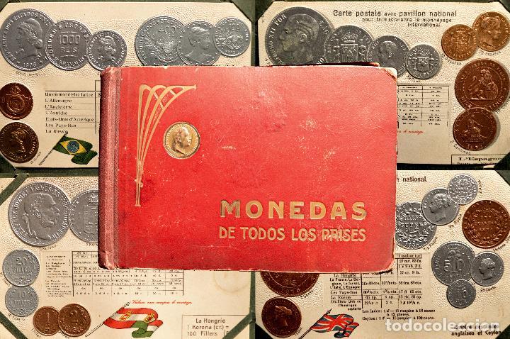 MONEDAS DE TODOS LOS PAISES 1920 COLECCIÓN 44 CARTA POSTAL GOFRADAS CATALOGO NUMISMÁTICO (Postales - Postales Temáticas - Especiales)