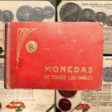 Postales: MONEDAS DE TODOS LOS PAISES 1920 COLECCIÓN 44 CARTA POSTAL GOFRADAS CATALOGO NUMISMÁTICO. Lote 103162071