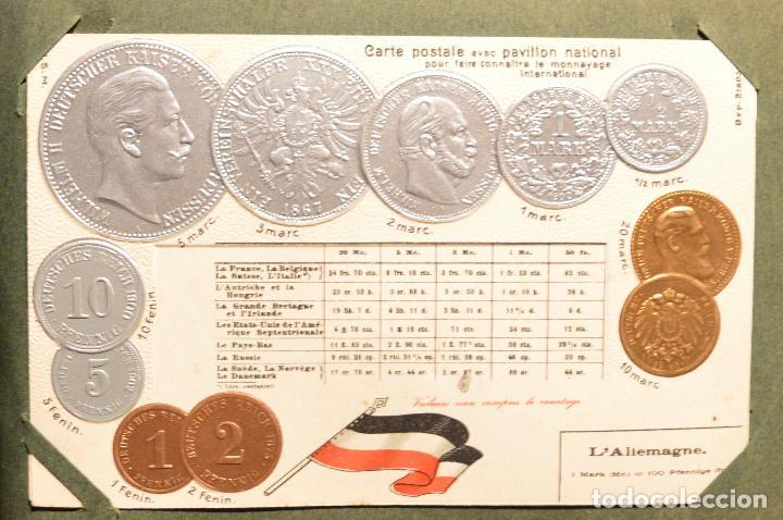 Postales: MONEDAS DE TODOS LOS PAISES 1920 COLECCIÓN 44 CARTA POSTAL GOFRADAS CATALOGO NUMISMÁTICO - Foto 3 - 103162071