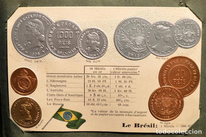 Postales: MONEDAS DE TODOS LOS PAISES 1920 COLECCIÓN 44 CARTA POSTAL GOFRADAS CATALOGO NUMISMÁTICO - Foto 7 - 103162071