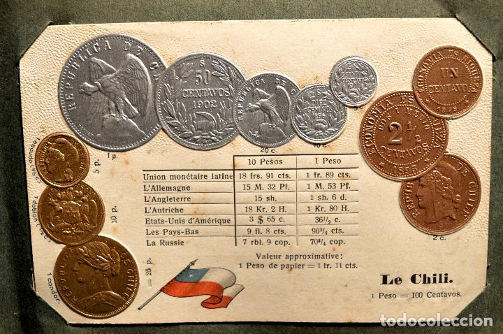 Postales: MONEDAS DE TODOS LOS PAISES 1920 COLECCIÓN 44 CARTA POSTAL GOFRADAS CATALOGO NUMISMÁTICO - Foto 9 - 103162071