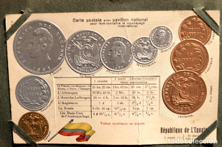 Postales: MONEDAS DE TODOS LOS PAISES 1920 COLECCIÓN 44 CARTA POSTAL GOFRADAS CATALOGO NUMISMÁTICO - Foto 12 - 103162071