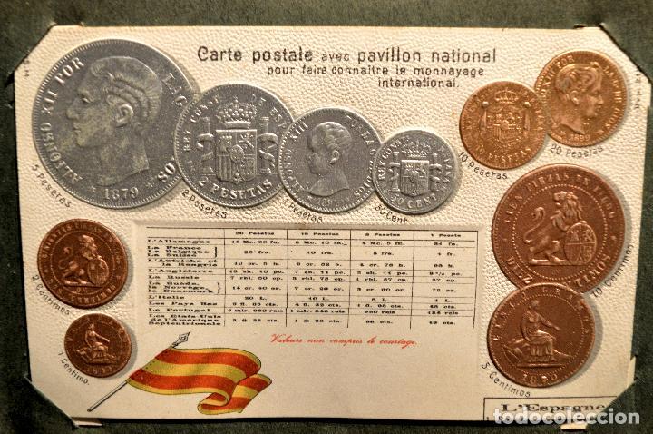 Postales: MONEDAS DE TODOS LOS PAISES 1920 COLECCIÓN 44 CARTA POSTAL GOFRADAS CATALOGO NUMISMÁTICO - Foto 13 - 103162071