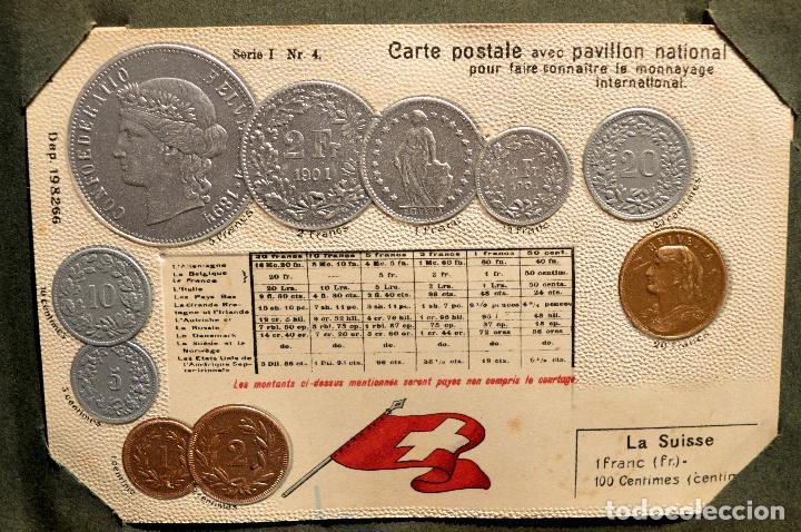 Postales: MONEDAS DE TODOS LOS PAISES 1920 COLECCIÓN 44 CARTA POSTAL GOFRADAS CATALOGO NUMISMÁTICO - Foto 15 - 103162071