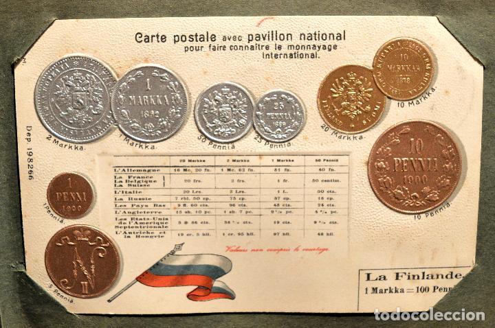 Postales: MONEDAS DE TODOS LOS PAISES 1920 COLECCIÓN 44 CARTA POSTAL GOFRADAS CATALOGO NUMISMÁTICO - Foto 17 - 103162071