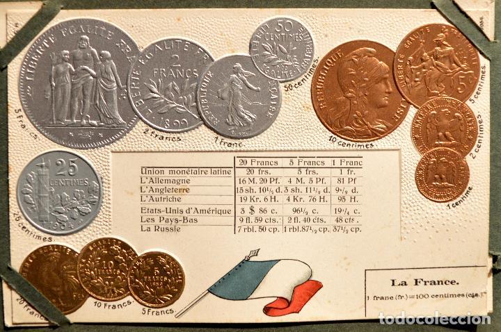 Postales: MONEDAS DE TODOS LOS PAISES 1920 COLECCIÓN 44 CARTA POSTAL GOFRADAS CATALOGO NUMISMÁTICO - Foto 18 - 103162071