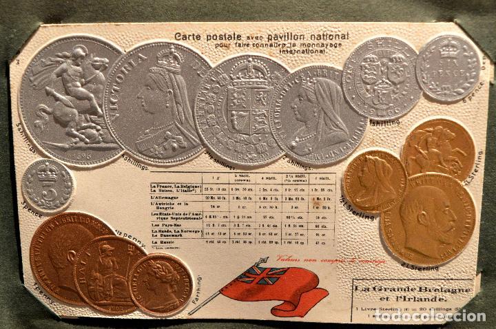 Postales: MONEDAS DE TODOS LOS PAISES 1920 COLECCIÓN 44 CARTA POSTAL GOFRADAS CATALOGO NUMISMÁTICO - Foto 19 - 103162071