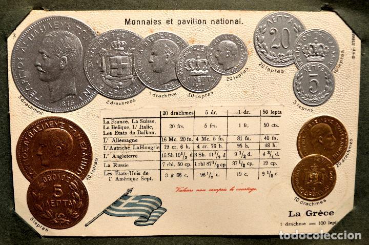 Postales: MONEDAS DE TODOS LOS PAISES 1920 COLECCIÓN 44 CARTA POSTAL GOFRADAS CATALOGO NUMISMÁTICO - Foto 27 - 103162071