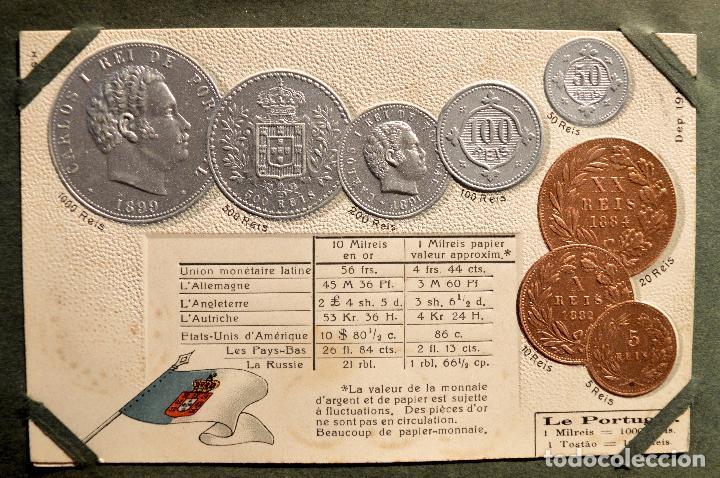 Postales: MONEDAS DE TODOS LOS PAISES 1920 COLECCIÓN 44 CARTA POSTAL GOFRADAS CATALOGO NUMISMÁTICO - Foto 32 - 103162071