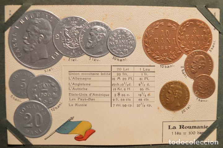 Postales: MONEDAS DE TODOS LOS PAISES 1920 COLECCIÓN 44 CARTA POSTAL GOFRADAS CATALOGO NUMISMÁTICO - Foto 34 - 103162071