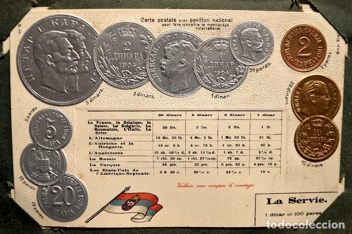Postales: MONEDAS DE TODOS LOS PAISES 1920 COLECCIÓN 44 CARTA POSTAL GOFRADAS CATALOGO NUMISMÁTICO - Foto 35 - 103162071