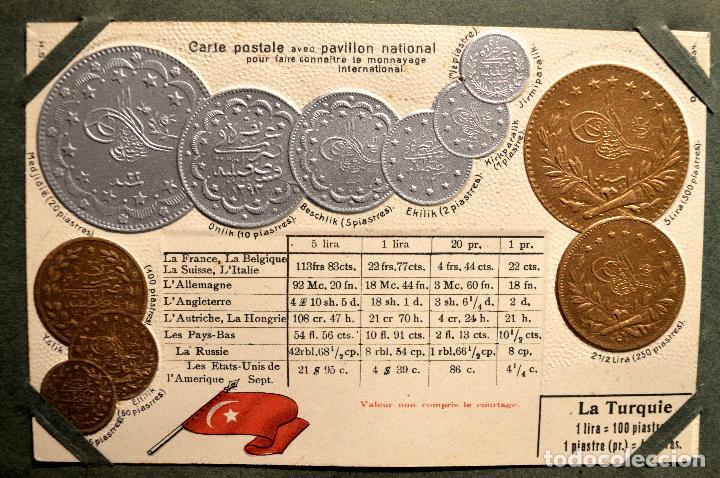 Postales: MONEDAS DE TODOS LOS PAISES 1920 COLECCIÓN 44 CARTA POSTAL GOFRADAS CATALOGO NUMISMÁTICO - Foto 41 - 103162071
