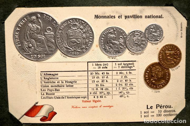Postales: MONEDAS DE TODOS LOS PAISES 1920 COLECCIÓN 44 CARTA POSTAL GOFRADAS CATALOGO NUMISMÁTICO - Foto 44 - 103162071