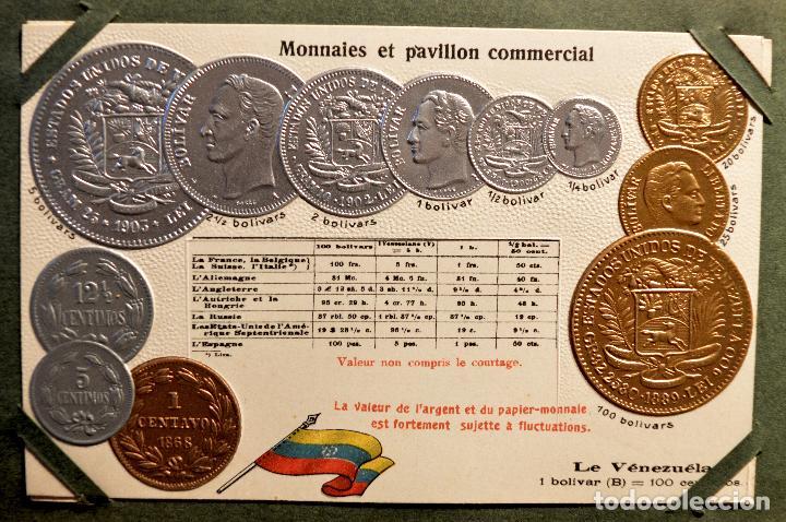 Postales: MONEDAS DE TODOS LOS PAISES 1920 COLECCIÓN 44 CARTA POSTAL GOFRADAS CATALOGO NUMISMÁTICO - Foto 45 - 103162071