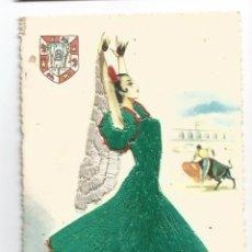 Postales: ANDALUCIA TOROS TAUROMAQUIA TRAJE BORDADO - EDICIÓN MOLINA - POSTAL. Lote 103672271