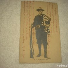 Postales: S.M. ALFONSO XIII . FOTO FRANZEN . CIRCULADA, REVERSO SIN DIVIDIR. Lote 103696947