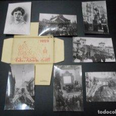 Postales: FALLAS 1929 - CARPETA COMPLETA CON 12 POSTALES FOTOGRAFICAS SIN CIRCULAR. Lote 103909367