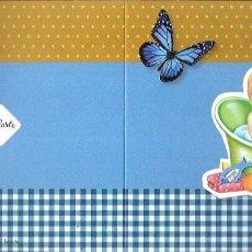 Postales: FELICITACIÓN DÍPTICO * BEBÉ EN SU BAÑERA * . Lote 105680443