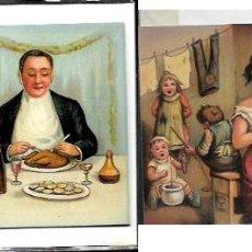 Postales: POSTAL TROQUELADA * HIGH LIFE ! AT HOME ! * RE.EDICIÓN SUECA DE UNA POSTAL ORIGINAL AÑO 1900. Lote 105806663