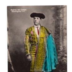 Postales: POSTAL FOTOGRÁFICA DE TORERO. ANDRES DEL CAMPO DOMINGUIN. TG. MADRID. Lote 108736787