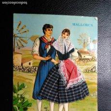 Postales: POSTAL BORDADO, TELA Y ENCAJE. PAREJA TRAJE TIPICO DE MALLORCA. COMERCIAL BOHIGAS. CIRCULADA.. Lote 109371591