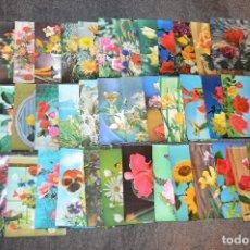 Postales: LOTAZO DE 40 POSTALES ESTEREOSCÓPICAS - MOTIVOS FLORALES - HAZ OFERTA - SIN CIRCULAR - MIRA FOTOS. Lote 112464615