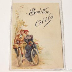 Postales: ANTIGUA POSTAL PUBLICITARIA CON BICILETAS. BOUILLON CIBILS. ALIMENTACION. Lote 112518643