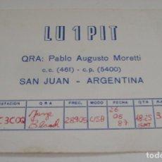 Postales: TARJETA - POSTAL RADIO AFICIONADO RADIOAFICIONADO SAN JUAN ARGENTINA. Lote 112715095