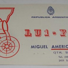 Postales: TARJETA - POSTAL RADIO AFICIONADO RADIOAFICIONADO SANTA FE REPUBLICA ARGENTINA. Lote 112715187