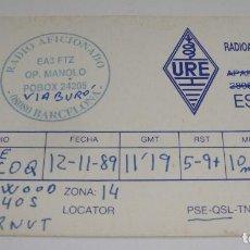Postales: TARJETA - POSTAL RADIO AFICIONADO RADIOAFICIONADO BARCELONA. Lote 112715367