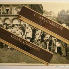 Postales: ESPAÑA CICLISMO TOUR FRANCIA PEUGEOT - RARA FOTO APOSTALADA - EQUIPO DE ESPAÑA AÑO 1949. Lote 112938999