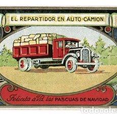 Postales: POSTAL FELICITACION DE NAVIDAD EL REPARTIDOR EN AUTO CAMION. Lote 113299235