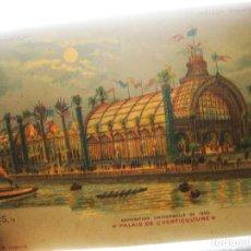 Postales: POSTAL DE TRANSPARENCIA DE PARIS. EXPOSICION UNIVERSAL DE 1900. PALACIO DE HORTICULTURA. Lote 113955855