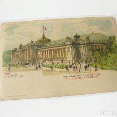 Postales: POSTAL DE TRANSPARENCIA DE PARIS. EXPOSICION UNIVERSAL DE 1900. EL GRAN PALACIO. Lote 113956127