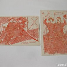 Postales: 2 POSTALES DE AVIACIÓN Y ERÓTICAS. SERIE 190. Lote 114436199
