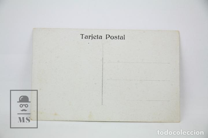 Postales: Antigua Postal Ilustrada - Retrto Mujer Con Sombrero/Bufanda - Ed. ? - Años 30 - Foto 2 - 115093154