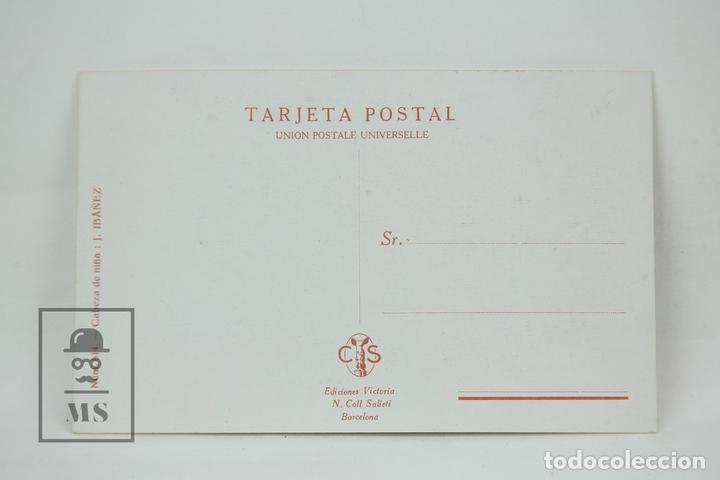 Postales: Antigua Postal Ilustrada - Cabeza De Niña Nº 614 / J. Ibáñez - Ed. Victoria - Años 20 - Foto 2 - 115093258