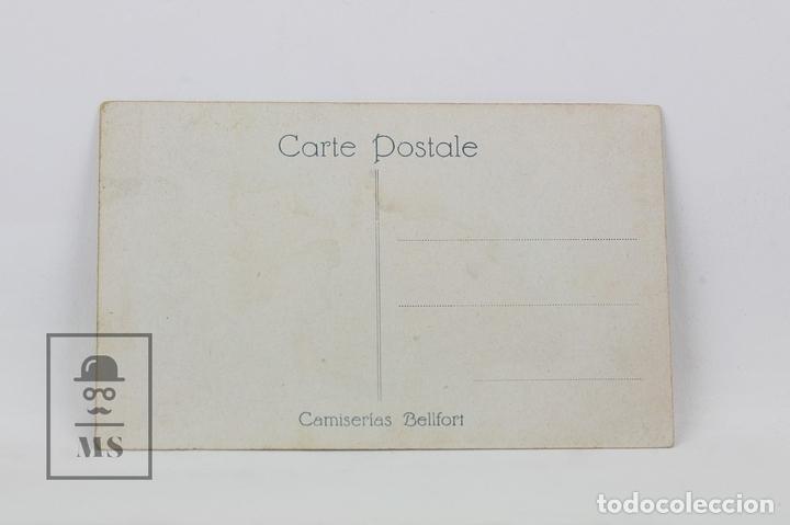 Postales: Antigua Postal Ilustrada - Retrato Mujer Con Sombrero De Perfil - Ed. ? - Años 20 - Foto 2 - 115093600