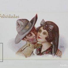 Postales: ANTIGUA POSTAL ILUSTRADA - EL ADIÓS A LA NOVIA Nº 907 / J. IBÁÑEZ - ED. VICTORIA - AÑOS 20. Lote 115093615