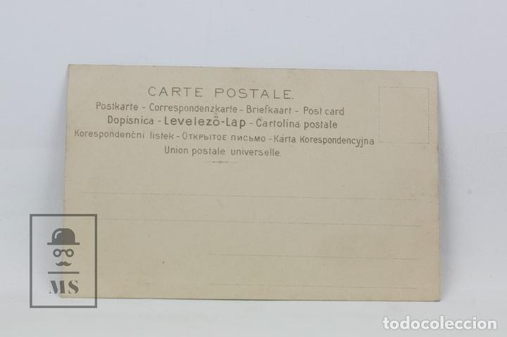 Postales: Antigua Postal Ilustrada - Retrato Mujer Con Tocado Serie 543 Nº 1 - Ed. J.P.W - Años 20 - Foto 2 - 115093684