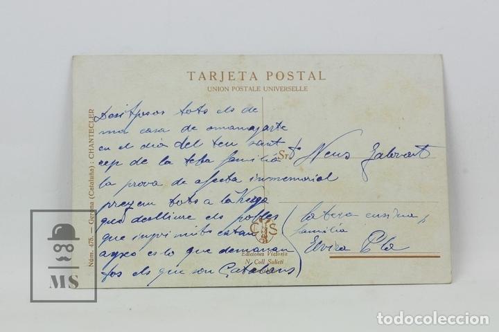 Postales: Antigua Postal Ilustrada - Retrato Mujer Regional Nº 475 / Chantecler - Ed. Victoria - Años 20 - Foto 2 - 115093734