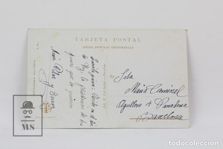 Postales: Antigua Postal Ilustrada - Retrato Mujer Nº 232 / R. Mir - Ed. Victoria - Años 20 - Foto 2 - 115093803