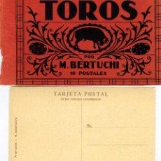 Postales: NUEVE POSTALES ESCENAS DE TOROS POR MARIANO BERTUCHI-LEER DESCRIPCIÓN-VER FOTOS ADICIONALES .. Lote 115113731